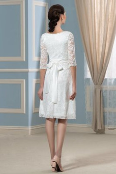 Robe de mariée De plein air Tissu Dentelle Empire Taille Empire Manche Aérienne