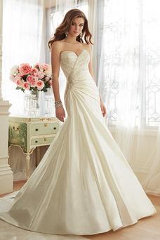 Robe de mariée Colorful Traîne Longue Lacet Salle Taille Naturel Perle