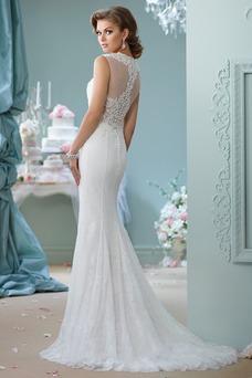 Robe de mariée Été Zip Larges Bretelles De plein air Chic Sans Manches