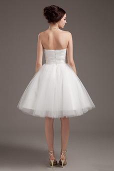 Robe de mariée Princesse Festonné Fourreau plissé Milieu Été Dentelle