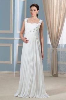 Robe de mariée Dos nu Mousseline Sans Manches Grandes Tailles Empire