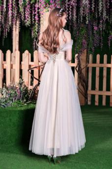 Robe de mariée Elégant Été Taille Naturel Manche Courte Lacet A-ligne