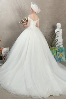 Robe de mariée Elégant Manquant Taille Naturel Mancheron Traîne Moyenne