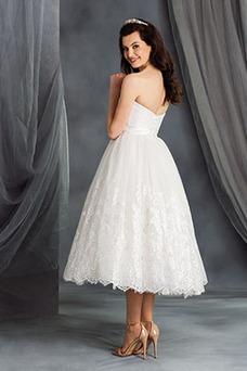 Robe de mariée Tissu Dentelle Appliques De plein air Mode de Bal Dos nu