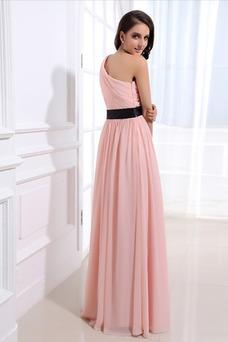 Robe demoiselle d'honneur Mince Orné de Rosette Taille Naturel A-ligne Fantaisie