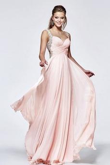 Robe de bal Col en Cœur Romantique Fourreau plissé Été Entrecroisé