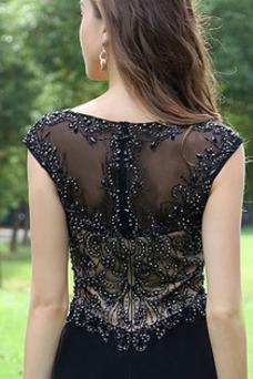 Robe de soirée Cristal Sirène Luxe Col ras du Cou Taille Naturel Hiver