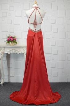 Robe de bal Taille Naturel Fourreau plissé Sexy A-ligne Longueur Cheville