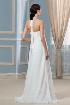 Robe de mariée Taille Empire Fourreau plissé Plissé Licou Empire Plage