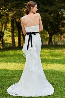 Robe de mariée Vintage Sirène De plein air Gaze Printemps Appliques