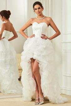Robe de mariée Plage Chic Asymétrique Asymétrique Sans Manches Printemps