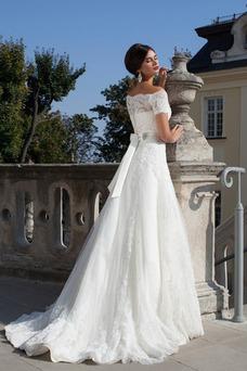 Robe de mariée Princesse Elégant Taille Naturel Zip Printemps Avec Jacket