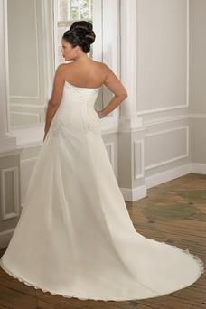 Robe de mariée Princesse Grandes Tailles Taille chute Organza Salle