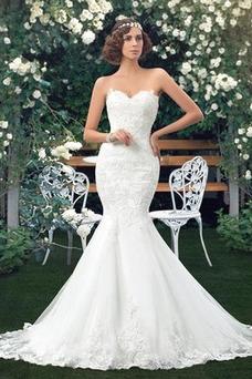 Robe de mariée Fourreau Été Longue Dos nu Sans Manches Salle