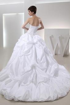Robe de mariée Dos nu Longue A-ligne Fourreau Avec Bijoux Printemps
