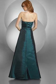 Robe de soirée Vintage Col en Cœur Taille Naturel Orné de Rosette