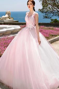 Robe de mariée Tulle Printemps Sans Manches Lacet Taille Naturel Salle