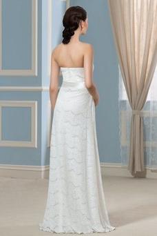 Robe de mariée Bustier Empire Orné de Nœud à Boucle Dos nu Plissé