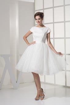 Robe de mariée Princesse Manche de T-shirt Modeste Taille Naturel