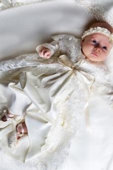 Robe cérémonie fille Princesse Nœud à Boucles Manche Longue Longue Manquant