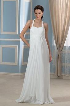 Robe de mariée Empire Ruché Zip Printemps Orné de Nœud à Boucle Taille Empire