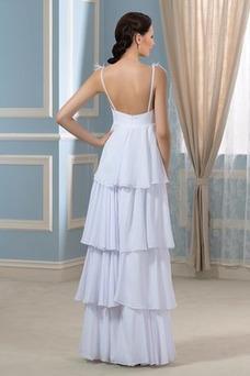 Robe de mariée Grandes Tailles Gradins Automne Zip Mousseline Chic