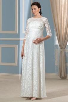 Robe de mariée Automne Zip Ample & Ornée Romantique Empire 1/2 Manche