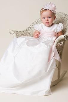 Robe cérémonie fille Princesse Haute Couvert Taille Empire Fleurs Formelle