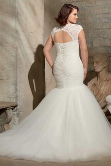 Robe de mariée Ample & Ornée Col en Cœur Formelle Trou De Serrure