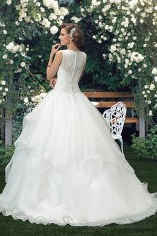 Robe de mariée Taille Naturel Manquant Traîne Mi-longue Appliques