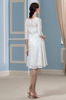 Robe de mariée Grossesse Taille Empire Ceinture en Étoffe De plein air