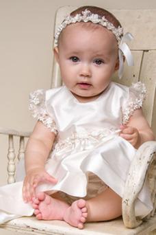Robe cérémonie fille Princesse Appliques Longueur Cheville Haute Couvert