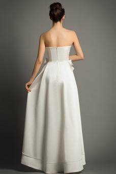 Robe de mariée Poire Taille Naturel Automne A-ligne Orné de Nœud à Boucle