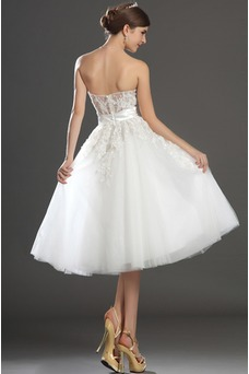 Robe de mariée Bustier Chic Princesse Taille Naturel De plein air