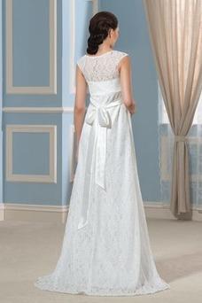 Robe de mariée Tissu Dentelle Nœud à Boucles De plein air Grossesse