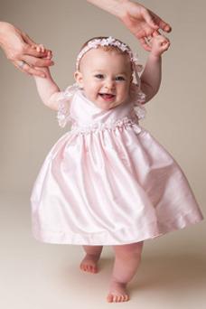 Robe cérémonie fille Princesse Taille Naturel Appliques Longueur Mollet