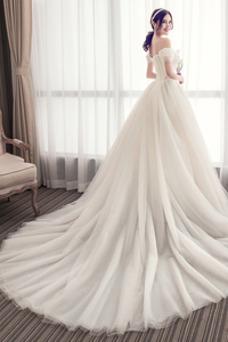 Robe de mariée Salle Taille Naturel Épaule Dégagée Triangle Inversé