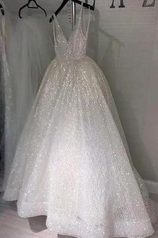 Robe de mariée Tulle Col en V A-ligne Colorful Taille Naturel De plein air
