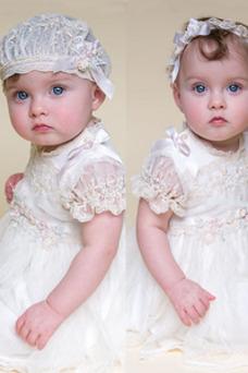 Robe cérémonie fille Printemps Avec voile Princesse Manche de Bulle Longueur ras du Sol