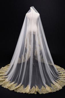3M Golden Lace Veil Cathédrale Mariage Voile Voile de Mariée Accessoires de Mariage
