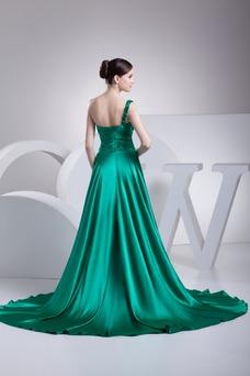 Robe de soirée Glamour Col Asymétrique Manquant Taille Naturel Sans Manches