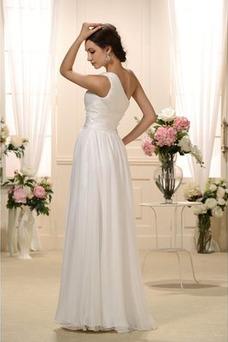 Robe de mariée Taille Naturel Sans Manches Épaule Asymétrique Mousseline