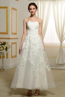 Robe de mariée Bustier Bouton Manquant De plein air Taille Naturel