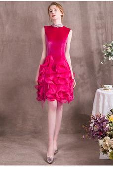 Robe de soirée A-ligne Zip Taille Naturel Multi Couche Glamour Perle