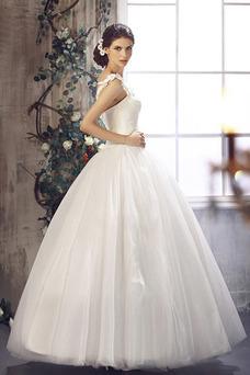 Robe de mariée Sans Manches Traîne Courte Taille Naturel Formelle