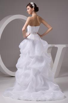 Robe de mariée Dos nu Asymétrique Manquant Perle Chic Taille chute
