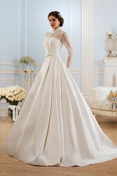 Robe de mariée Avec Jacket Traîne Mi-longue A-ligne Taille Naturel