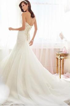 Robe de mariée Organza Bustier Salle Printemps Lacet Appliques