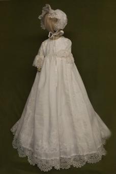 Robe cérémonie fille Princesse Col ras du Cou Lanterne Printemps Taille Empire
