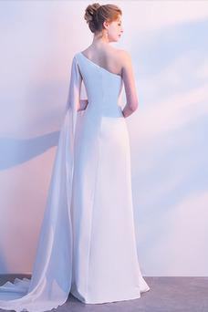Robe de soirée Mousseline Longueur ras du Sol Elégant Manquant A-ligne